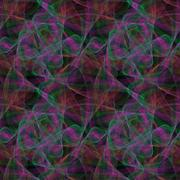 Multicolored seamless fractal pattern design Stock Illustration