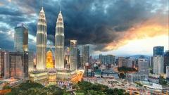 Kuala Lumpur, Malaysia skyline, Time lapse Stock Footage