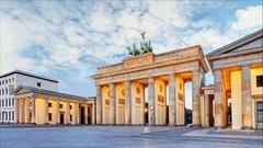 Berlin - Brandenburg Gate, Time lapse, Germany Stock Footage