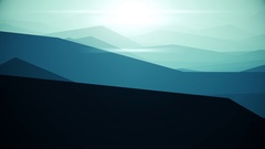 Flying over mountainous landscape Stock Footage