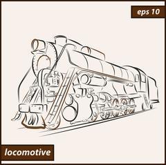 Locomotive Stock Illustration