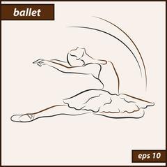 Ballerina. Art. Ballet Stock Illustration