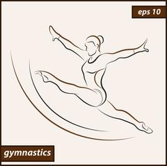 Sport. Gymnastics Stock Illustration