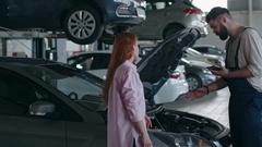 Diagnostics of Car Engine Stock Footage