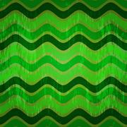 Seamless pattern with green waves Stock Illustration