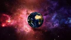 Planet Earth Fly in Deep Space Stock Footage