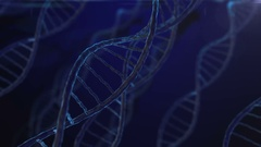 Dna Loop 3d animation Stock Footage