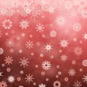 Winter Snowflake Red Pattern Stock Illustration
