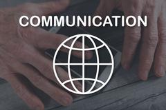 Concept of global communication Stock Illustration