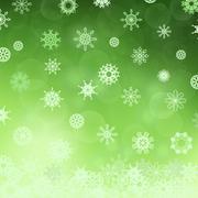 Winter Snowflake Green Pattern Stock Illustration