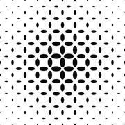 Black and white ellipse pattern background Stock Illustration