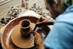 Ceramic pottery Stock Photos