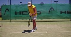 Tennis serve Stock Footage
