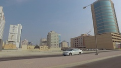 Driving through Manama, Bahrain, Middle East Stock Footage