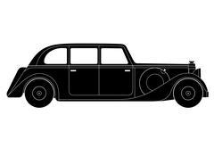 Sedan - vintage model of car Stock Illustration