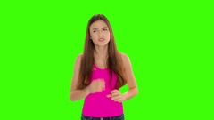 Chromakey footage Have a toothache Stock Footage