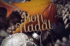 Text bon nadal, merry christmas in catalan Stock Photos