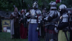Knights in Armor Stock Footage