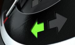 Indicator Dashboard Lights Stock Illustration