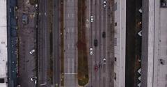 Midtown Manhattan NYC New York Overhead West Side Highway north traffic Stock Footage