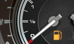 Petrol Gage Empty Stock Illustration