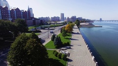 Quay In Dnipropetrovsk Stock Footage