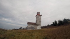 Lighthouse time-lapse panorama Stock Footage