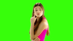 Chromakey footage Oh, it's not easy to make a decision..but the decision has Stock Footage