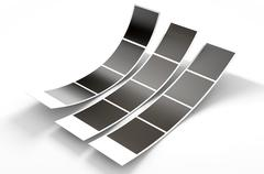 Photobooth Instant Photographs Stock Illustration