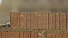 Construction site preparation for laying brick. Stock Footage