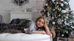 Christmas and New Year's - favorite holidays for children. Stock Footage