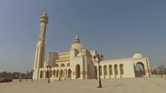 Al Fateh Grand Mosque, Bahrain 4K Stock Footage