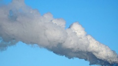 Smoke Emission From industrial Factory Pipe Stock Footage