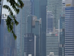 Esplanade Drive and Central Business District, Singapore, South Asia, Asia Stock Footage