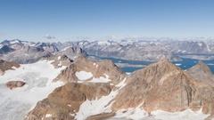 Greenland 4K Aerial footage Stock Footage