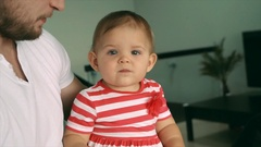 The little daughter of the pope in his arms Stock Footage