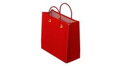 Shopping bag turn around. 3D rendering. Stock Footage