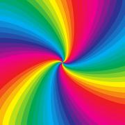 Rainbow colorful spiral background Stock Illustration