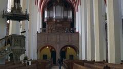 Inside St. Thomas Church, Leipzig, Germany Stock Footage