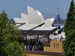 The Rocks and Sydney Opera House, Sydney, New South Wales, Australia Stock Footage