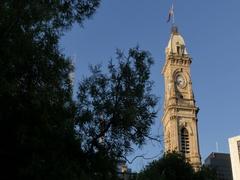 Australia Post Office on Victoria Square, Adelaide, South Australia, Australia Stock Footage