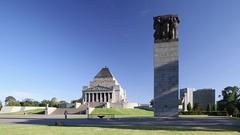 Memorial of Remembrance, Melbourne, Victoria. Australia Arkistovideo