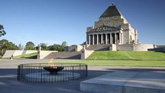 Memorial of Remembrance, Melbourne, Victoria. Australia Stock Footage