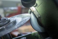 Rotary blade and grinding machine Stock Photos