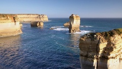 Stacks at Port Campbell National Park, Great Ocean Road, Victoria, Australia Stock Footage
