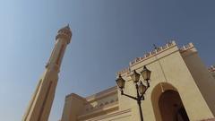 Al Fateh Grand Mosque, Bahrain Stock Footage