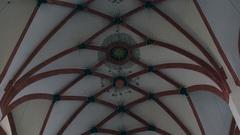 St. Thomas Church ceiling drawings, Leipzig, Germany Stock Footage