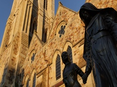 St Francis Xavier Cathedral on Victoria Square, Adelaide, South Australia, Stock Footage