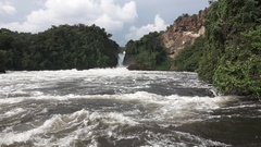 Murchison Falls in super slow motion Stock Footage