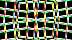 Chromatic Weird Grid Kaleidoscope Psychedelic Abstract Motion Background Loop 1 Stock Footage